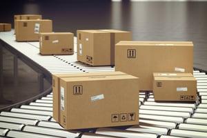 Cardboard boxes hot glue