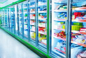 Frozen foods hot glue