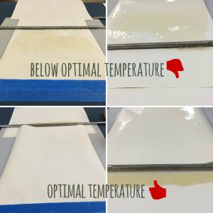 Optimal Running Temperature of Cake Glue