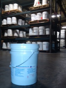 liquid adhesive in pail