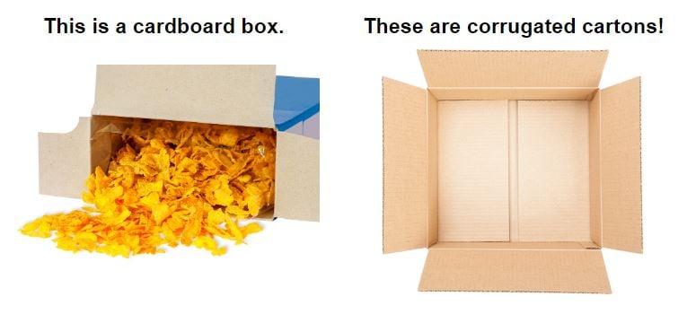 LD Davis cardboard vs corrugate 2
