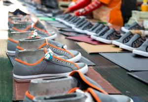 Shoes hot glue
