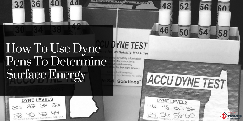 How To Use Dyne Pens To Determine Surface Energy