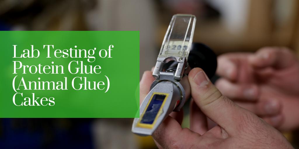 Lab Testing of Protein Glue (Animal Glue) Cakes