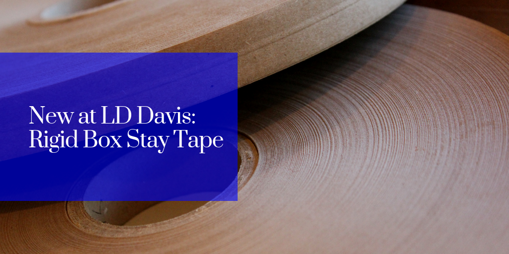 New at LD Davis: Rigid Box Stay Tape
